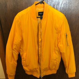 Forever 21 yellow bomber jacket